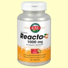 Kal Reacta C 1000 mg - Vitamina C - 60 cápsulas - Laboratorios Kal