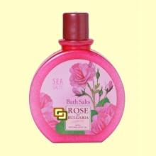 Sales de Baño con Aceite de Rosa - 360 gramos - Rose of Bulgaria  *