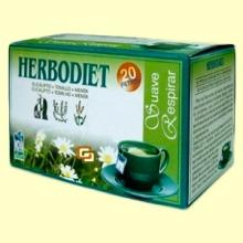 Infusión Herbodiet Suave Respirar - 20 bolsitas filtro - Novadiet