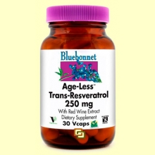 Age-Less Trans Resveratrol 250 mg - 30 cápsulas vegetales - Bluebonnet