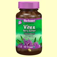 Sauzgatillo Estandarizado - Vitex Agnus Castus - 60 cápsulas vegetales - Bluebonnet