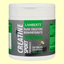 Creatina 1000 mg - 250 tabletas - Lamberts