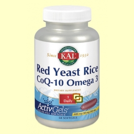 Red Yeast Rice CoQ10 Omega 3 - 60 perlas - Laboratorios Kal