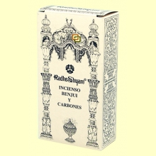 Incienso Benjui y Carbones - 50 g + 10 uds - Radhe Shyam