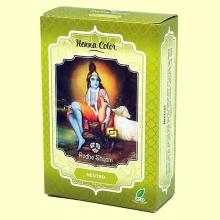 Henna Neutro Polvo - 100 gramos - Radhe Shyam