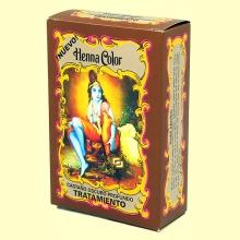 Henna Castaño Oscuro Profundo Tratamiento - 100 gramos - Radhe Shyam