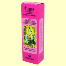 Henna Castaño Caoba Pasta - 200 ml - Radhe Shyam