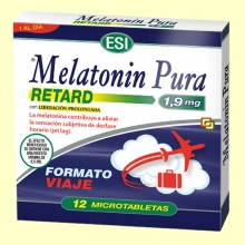 Melatonin Pura Retard Viaje 1,9 mg - Melatonina - 12 microtabletas - Laboratorios Esi