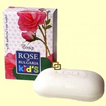 Jabón Natural en Pastilla Infantil - 100 gramos - Rose of Bulgaria Infantil