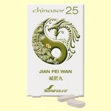 Chinasor 25 - BU FEI WAN - 30 comprimidos - Soria Natural