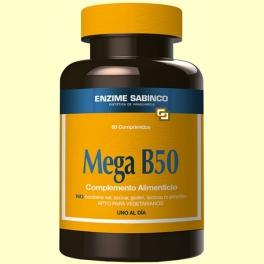 Mega B-50 - Sistema Nervioso - 50 comprimidos - Enzime Sabinco *