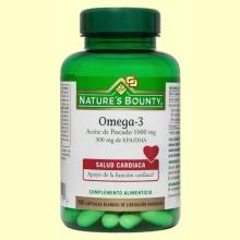 Omega-3 - Aceite de pescado 1000 mg - 100 perlas - Nature's Bounty