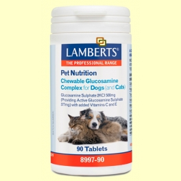 Complejo de Glucosamina Masticable para perros y gatos - 90 tabletas - Lamberts