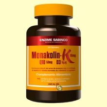 Monakolin K + Q10 + D3 - Colesterol - 30 cápsulas - Enzime Sabinco