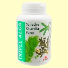 Triple Alga - Chlorella, Espirulina y Focus - 120 cápsulas - Intersa