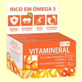 Vitamineral 15/50 con Omega 3 - 30 cápsulas - Dietmed
