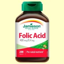 Ácido Fólico 400 mcg - 200 comprimidos - Jamieson