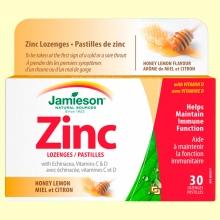 Zinc Lozenges con Equinácea y Vitaminas C y D - 30 comprimidos - Jamieson