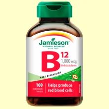 Vitamina B12 (Metilcobalamina) 1000 mcg Sublingual - 100 comprimidos - Jamieson