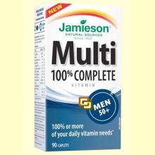 Multi 100% Complete Men +50 - Suplemento Vitamínico - 90 cápsulas - Jamieson