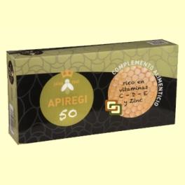 Apiregi 50 - Jalea Real - 24 ampollas - Artesania Agricola