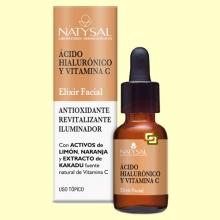 Elixir Facial con Ácido Hiaurónico y Vitamina C - 15 ml - Natysal