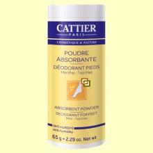 Polvos absorbentes desodorantes para Pies - 65 gramos - Cattier *