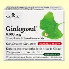 Ginkgosul - Circulación - 60 cápsulas - Natysal