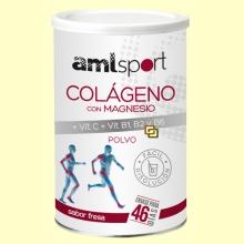 Colágeno con Magnesio + Vit.C + Vit.B1, B2 Y B6  Sabor Fresa - 350 gramos - amlsport
