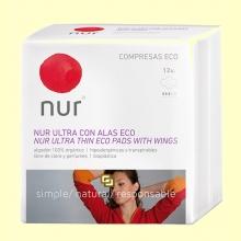 Compresas Ultrafinas Alas Eco - 12 unidades - Nur
