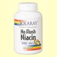 Niacin (No Ruborizante) - 100 cápsulas - Solaray