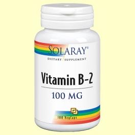 Vitamina B2 - 100 cápsulas - Solaray