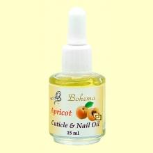 Aceite para las uñas y cutículas Albaricoque - 15 ml - Bohema