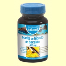 Aceite de Hígado de Bacalao 400mg - 45 perlas - Naturmil *