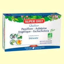 Cuarteto Pasiflora Bio - Relajación - 20 ampollas - Super Diet