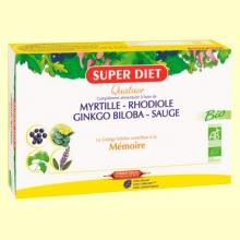 Cuarteto Ginkgo Bio - Memoria - 20 ampollas - Super Diet