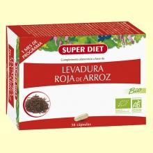 Levadura Roja de Arroz Bio - Colesterol - 30 cápsulas - Super Diet