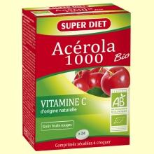 Acerola 1000 Bio - Vitamina C -  24 comprimidos - Super Diet