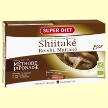 Shiitaké, Reishi, Maitake Bio - Ayuda las defensas - 20 ampollas - Super Diet