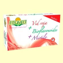 Fitomed CIR - Vid roja + Bioflavonoides + Mirtilo - 20 ampollas - Dieticlar