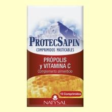 ProtecSapin - Própolis y Vitamina C - 15 comprimidos masticables - Natysal