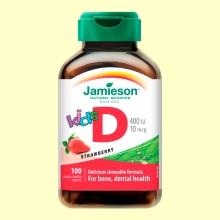 Vitamina D Niños 400 IU/10 mcg - 100 tabletas - Jamieson