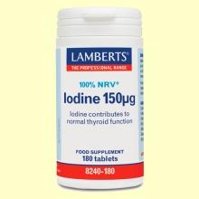 Yodo 150 µg (Extracto de Kelp)- Minerales - Lamberts - 180 tabletas