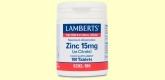 Zinc 15 mg (como Citrato)- Minerales - Lamberts - 180 tabletas