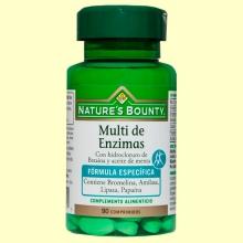 Multi de Enzimas con Betaina y Aceite de Menta - Nature's Bounty - 90 cápsulas