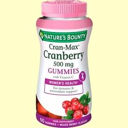Cran-Max Arándano Rojo 500 mg - 60 cápsulas - Nature's Bounty