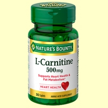 L-Carnitina 500 mg - 30 cápsulas - Nature's Bounty