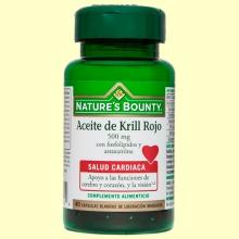 Aceite de Krill Rojo 500 mg - 40 cápsulas - Nature's Bounty
