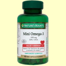 Mini omega 3 450 mg EPA/DHA - 60 cápsulas - Nature's Bounty