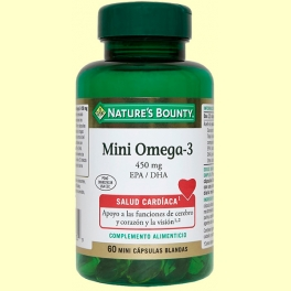 Mini omega 3 450 mg EPA/DHA - 60 cápsulas - Nature's Bounty